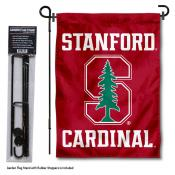 Stanford Cardinal Garden Flag and Pole Stand