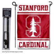 Stanford Cardinal Garden Flag and Pole Stand Holder