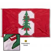 Stanford Cardinal Nylon Embroidered Flag