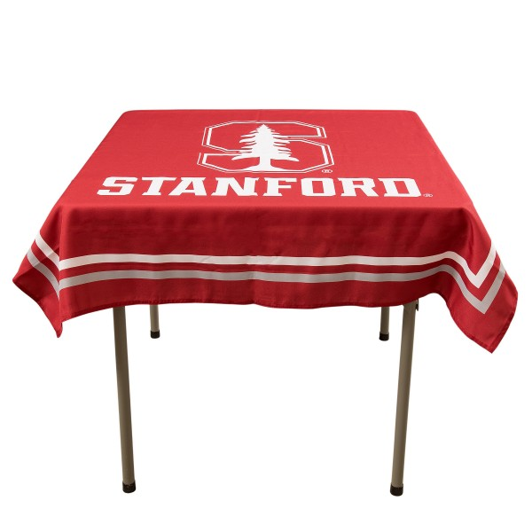 Stanford Cardinal Table Cloth measures 48 x 48 inches, is made of 100% Polyester, seamless one-piece construction, and is perfect for any tailgating table, card table, or wedding table overlay. Each includes Officially Licensed Logos and Insignias.