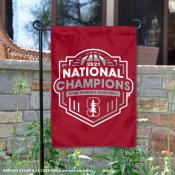 Stanford Cardinal Womens Basketball National Champions Double Sided Garden Flag