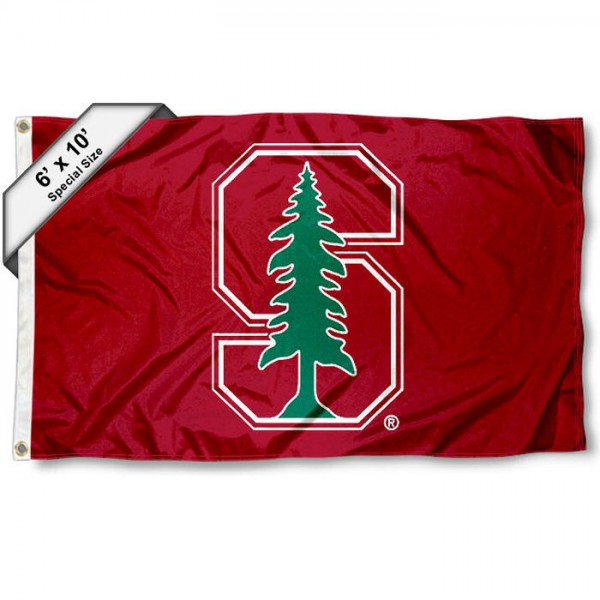 Stanford University 6'x10' Flag measures 6x10 feet, is made of thick poly, has quadruple-stitched fly ends, and Stanford Cardinal logos are screen printed into the Stanford Cardinal 6'x10' Flag. This 6'x10' Flag is officially licensed by and the NCAA.