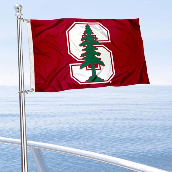 Stanford University Golf Cart Flag is a small 12x18 inches, made of 2-ply polyester with quad stitched flyends, and is double-sided. Our Golf Cart Logo Flags are Officially Licensed and Approved by Stanford and NCAA.