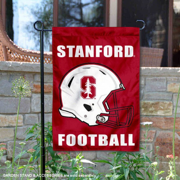 Stanford University Football Helmet Garden Banner is 13x18 inches in size, is made of 2-layer polyester, screen printed Cardinal athletic logos and lettering. Available with Same Day Express Shipping, Our Stanford University Football Helmet Garden Banner is officially licensed and approved by Cardinal and the NCAA.