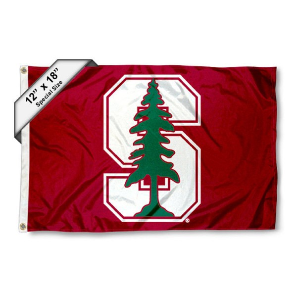 Stanford University Nautical Flag measures 12x18 inches, is made of two-ply nylon, offers double stitched flyends for durability, has two metal grommets, and is viewable from both sides. Our Stanford University Nautical Flag is officially licensed by the selected university and the NCAA and can be used as a motorcycle flag, golf cart flag, or ATV flag