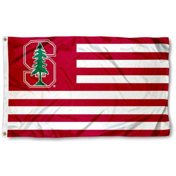 Stanford University Striped Flag measures 3'x5', is made of nylon, offers four-stitched flyends for durability, has two metal grommets, and is viewable from both sides with a reverse image on the opposite side. Our Stanford University Striped Flag is officially licensed by the selected school university and the NCAA.