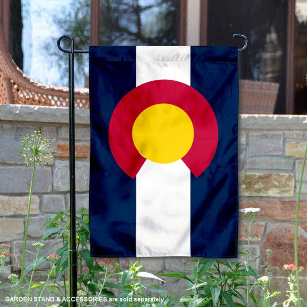State of Colorado Garden Flag is 13x18 inches in size, is made of thick 1-layer polyester, screen printed logos and lettering, and is viewable on both sides. Available same day shipping, our State of Colorado Garden Flag is a great addition to your decorative garden flag selections.