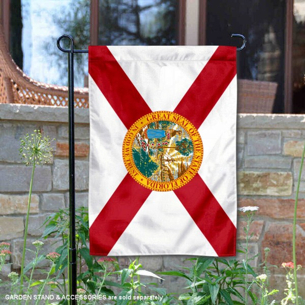 State of Florida Garden Flag is 13x18 inches in size, is made of thick 1-layer polyester, screen printed logos and lettering, and is viewable on both sides. Available same day shipping, our State of Florida Garden Flag is a great addition to your decorative garden flag selections.