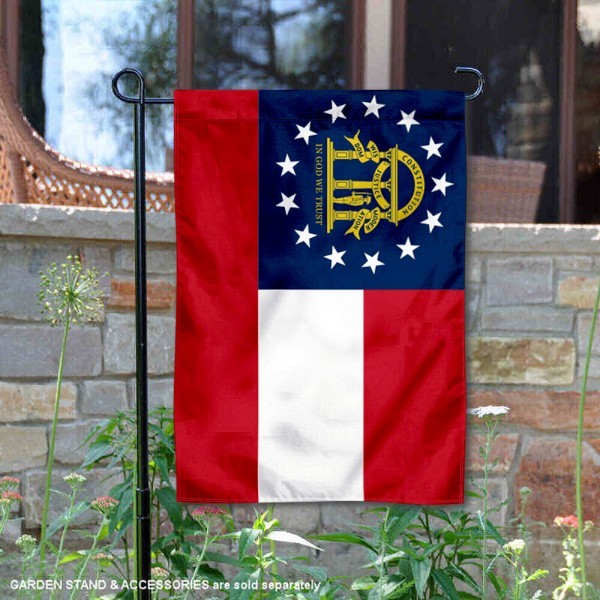 State of Georgia Garden Flag is 13x18 inches in size, is made of thick 1-layer polyester, screen printed logos and lettering, and is viewable on both sides. Available same day shipping, our State of Georgia Garden Flag is a great addition to your decorative garden flag selections.