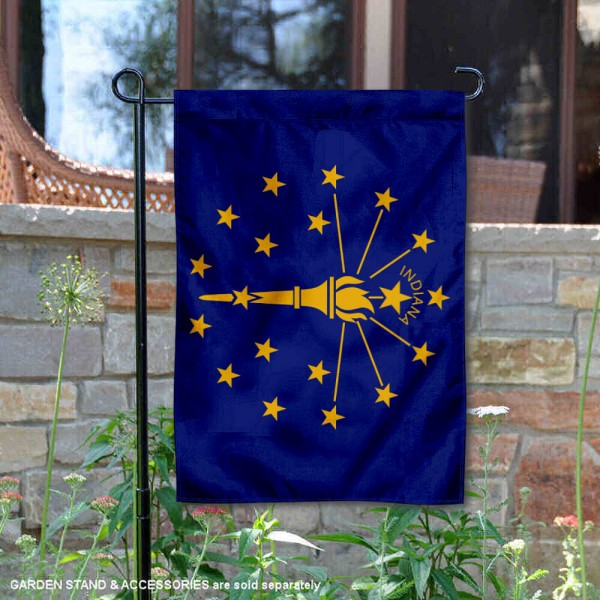 State of Indiana Garden Flag is 13x18 inches in size, is made of thick 1-layer polyester, screen printed logos and lettering, and is viewable on both sides. Available same day shipping, our State of Indiana Garden Flag is a great addition to your decorative garden flag selections.