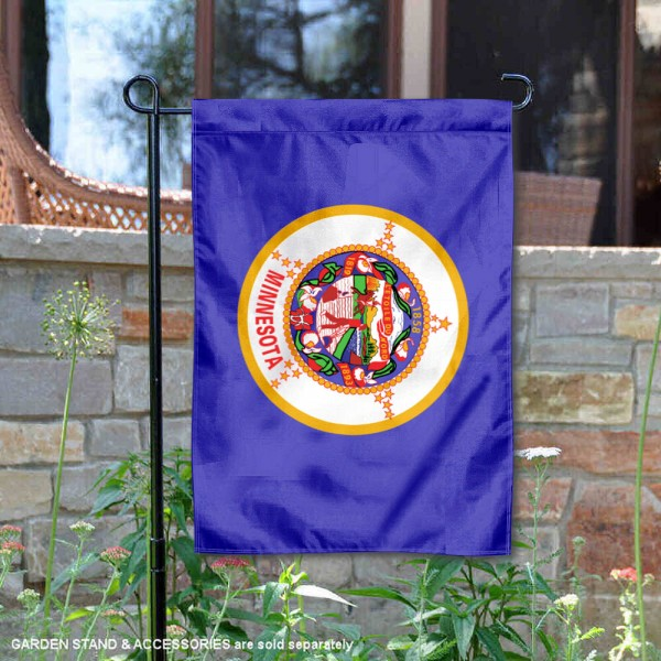 State of Minnesota Garden Flag is 13x18 inches in size, is made of thick 1-layer polyester, screen printed logos and lettering, and is viewable on both sides. Available same day shipping, our State of Minnesota Garden Flag is a great addition to your decorative garden flag selections.