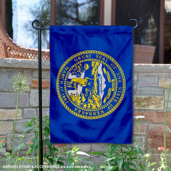State of Nebraska Garden Flag is 13x18 inches in size, is made of thick 1-layer polyester, screen printed logos and lettering, and is viewable on both sides. Available same day shipping, our State of Nebraska Garden Flag is a great addition to your decorative garden flag selections.
