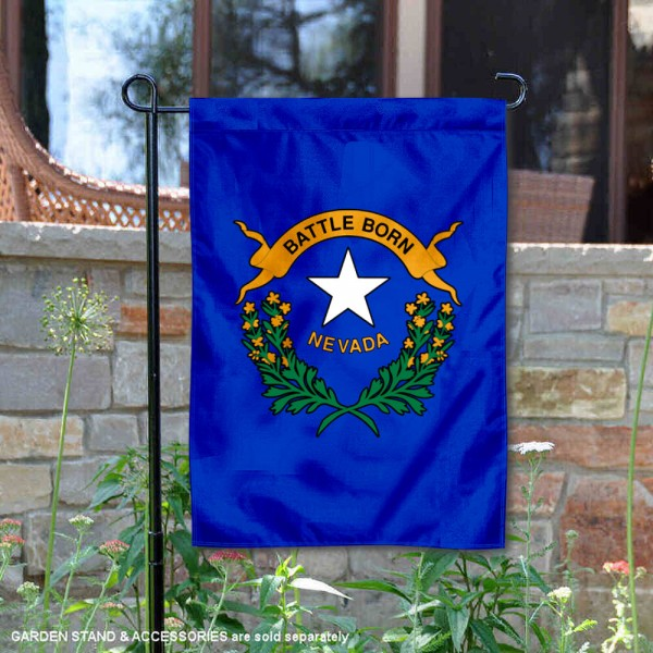 State of Nevada Garden Flag is 13x18 inches in size, is made of thick 1-layer polyester, screen printed logos and lettering, and is viewable on both sides. Available same day shipping, our State of Nevada Garden Flag is a great addition to your decorative garden flag selections.