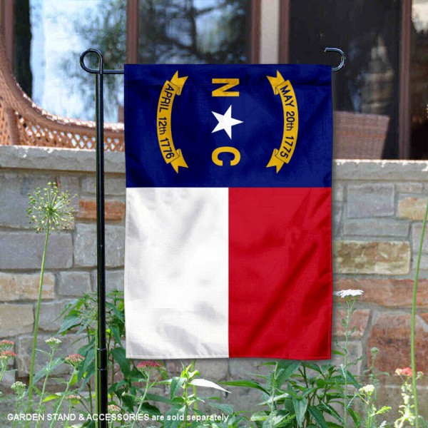 State of North Carolina Garden Flag is 13x18 inches in size, is made of thick 1-layer polyester, screen printed logos and lettering, and is viewable on both sides. Available same day shipping, our State of North Carolina Garden Flag is a great addition to your decorative garden flag selections.