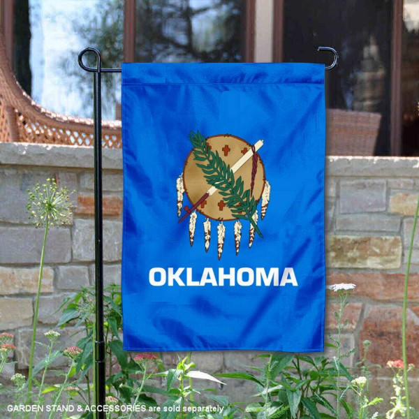 State of Oklahoma Garden Flag is 13x18 inches in size, is made of thick 1-layer polyester, screen printed logos and lettering, and is viewable on both sides. Available same day shipping, our State of Oklahoma Garden Flag is a great addition to your decorative garden flag selections.