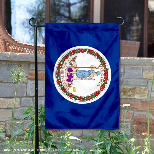 State of Virginia Garden Flag is 13x18 inches in size, is made of thick 1-layer polyester, screen printed logos and lettering, and is viewable on both sides. Available same day shipping, our State of Virginia Garden Flag is a great addition to your decorative garden flag selections.