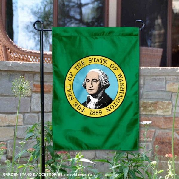 State of Washington Garden Flag is 13x18 inches in size, is made of thick 1-layer polyester, screen printed logos and lettering, and is viewable on both sides. Available same day shipping, our State of Washington Garden Flag is a great addition to your decorative garden flag selections.