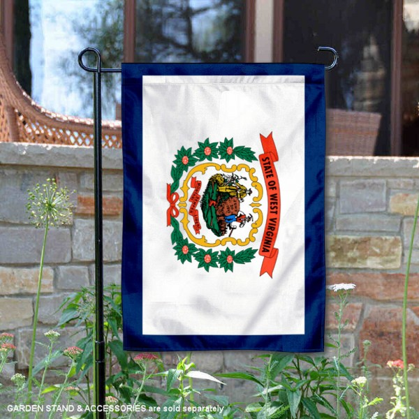 State of West Virginia Garden Flag is 13x18 inches in size, is made of thick 1-layer polyester, screen printed logos and lettering, and is viewable on both sides. Available same day shipping, our State of West Virginia Garden Flag is a great addition to your decorative garden flag selections.