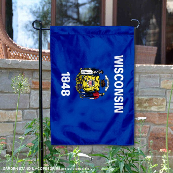 State of Wisconsin Garden Flag is 13x18 inches in size, is made of thick 1-layer polyester, screen printed logos and lettering, and is viewable on both sides. Available same day shipping, our State of Wisconsin Garden Flag is a great addition to your decorative garden flag selections.