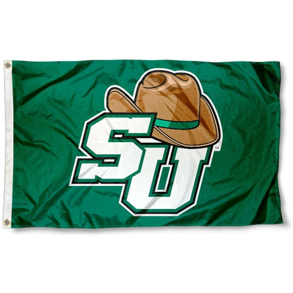 Stetson Hatters Flag measures 3x5 feet, is made of 100% polyester, offers quadruple stitched flyends, has two metal grommets, and offers screen printed NCAA team logos and insignias. Our Stetson Hatters Flag is officially licensed by the selected university and NCAA.