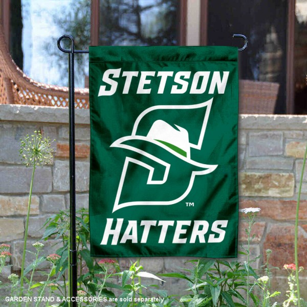 Stetson Hatters Garden Flag is 13x18 inches in size, is made of 2-layer polyester, screen printed university athletic logos and lettering, and is readable and viewable correctly on both sides. Available same day shipping, our Stetson Hatters Garden Flag is officially licensed and approved by the university and the NCAA.