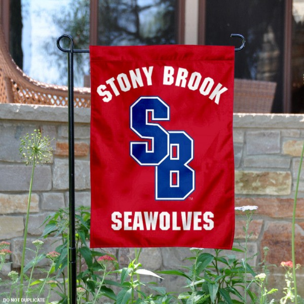 Stony Brook Seawolves Garden Flag is 13x18 inches in size, is made of 2-layer polyester, screen printed university athletic logos and lettering. Available with Same Day Express Shipping, our Stony Brook Seawolves Garden Flag is officially licensed and approved by the university and the NCAA.