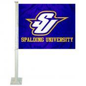 SU Golden Eagles Logo Car Flag