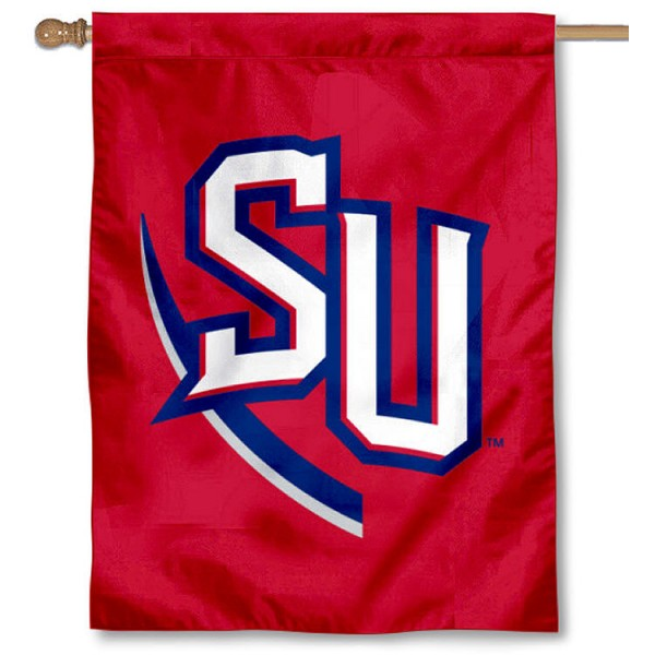 SU Hornets Red House Flag is a vertical house flag which measures 30x40 inches, is made of 2 ply 100% polyester, offers screen printed NCAA team insignias, and has a top pole sleeve to hang vertically. Our SU Hornets Red House Flag is officially licensed by the selected university and the NCAA.