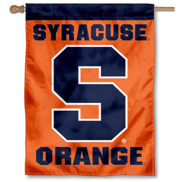 SU Orange House Flag is a vertical house flag which measures 30x40 inches, is made of 2 ply 100% polyester, offers screen printed NCAA team insignias, and has a top pole sleeve to hang vertically. Our SU Orange House Flag is officially licensed by the selected university and the NCAA.