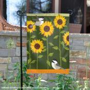 Sunflower with Birds Garden Flag