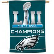 Super Bowl 52 Champions House Flag for Philadelphia Eagles