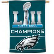 Super Bowl 52 Champions House Flag for Philadelphia Eagles