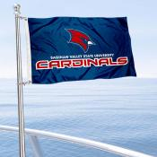 SVSU Cardinals Boat and Mini Flag