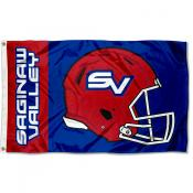 SVSU Cardinals Football Helmet Flag