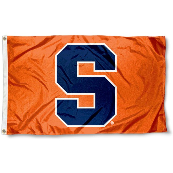 Syracuse Flag measures 3x5 feet, is made of 100% polyester, offers quadruple stitched flyends, has two metal grommets, and offers screen printed NCAA team logos and insignias. Our Syracuse Flag is officially licensed by the selected university and NCAA.