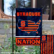 Syracuse Garden Flag with USA Country Stars and Stripes