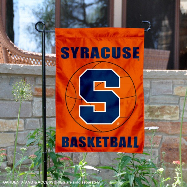 Syracuse Orange Basketball Garden Banner is 13x18 inches in size, is made of 2-layer polyester, screen printed athletic logos and lettering. Available with Same Day Express Shipping, Our Syracuse Orange Basketball Garden Banner is officially licensed and approved by the school and the NCAA.