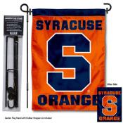 Syracuse Orange Dual Logo Garden Flag and Pole Stand