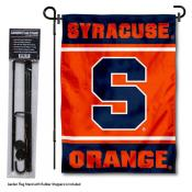 Syracuse Orange Garden Flag and Pole Stand Holder
