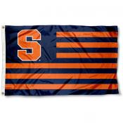 Syracuse University Orange Striped Flag