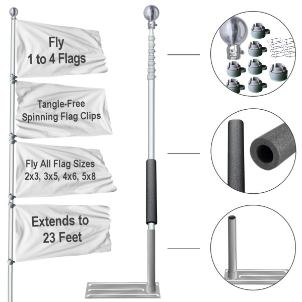 Tailgating Flagpole and Tire Base