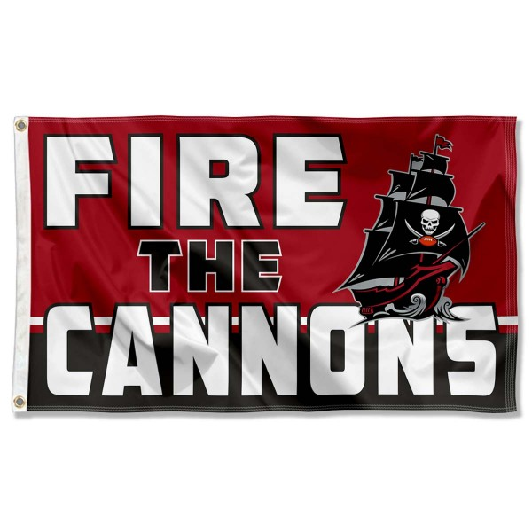 Our Tampa Bay Buccaneers Fire The Cannons Flag is double sided, made of poly, 3'x5', has two metal grommets, indoor or outdoor, and four-stitched fly ends. These Tampa Bay Buccaneers Fire The Cannons Flags are Officially Approved by the Tampa Bay Buccaneers.
