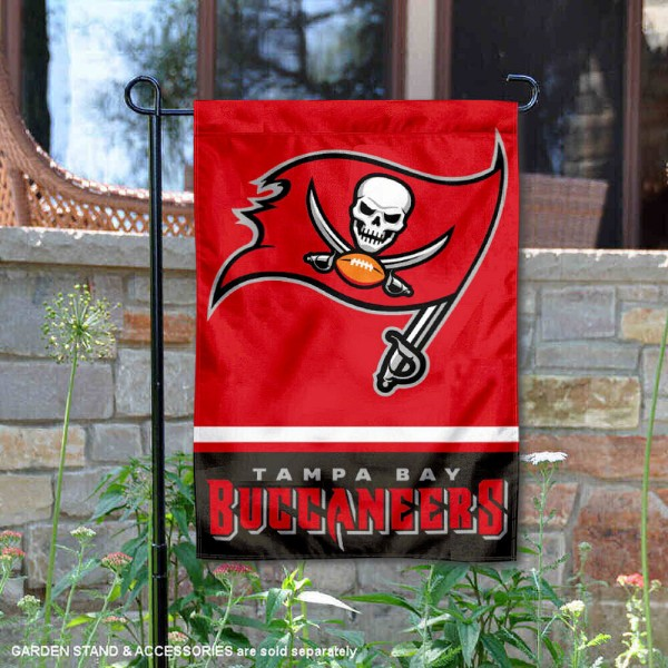Tampa Bay Buccaneers Garden Flag is 12.5x18 inches in size, is made of 2-ply polyester, and has two sided screen printed logos and lettering. Available with Express Next Day Ship, our Tampa Bay Buccaneers Garden Flag is NFL Officially Licensed and is double sided.