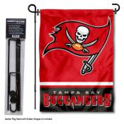 Tampa Bay Buccaneers Garden Flag and Stand