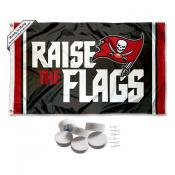 Tampa Bay Buccaneers Raise The Flags Banner Flag with Tack Wall Pads