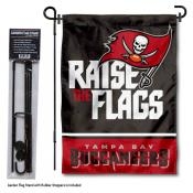 Tampa Bay Buccaneers Raise The Flags Garden Banner and Flag Stand