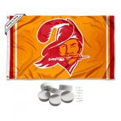 Tampa Bay Buccaneers Retro Vintage Banner Flag with Tack Wall Pads