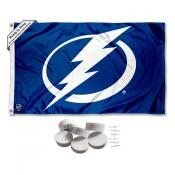 Tampa Bay Lightning Banner Flag with Tack Wall Pads