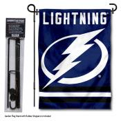 Tampa Bay Lightning Garden Flag and Flagpole Stand
