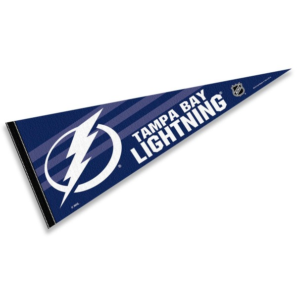 Tampa Bay Lightning NHL Pennant is our full size 12x30 inch pennant which is made of felt, is single sided screen printed, and is perfect for decorating at home or office. Display your NHL hockey allegiance with this NHL Genuine Merchandise item.